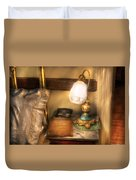 Optometrist - Night Stand  Duvet Cover by Mike Savad