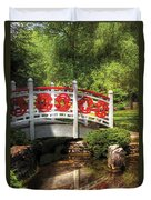 Orient - Bridge - Tranquility Duvet Cover by Mike Savad