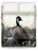 Ostracized Ostrich Duvet Cover by Douglas Barnard