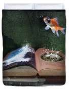 Out Of The Pond Duvet Cover by Mary Hood