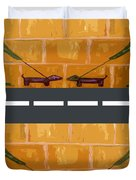 Out On The Street Duvet Cover by Patrick J Murphy