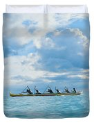 Outrigger Canoe Duvet Cover by Bob Abraham - Printscapes