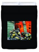 Outside Roof Duvet Cover by Paul Walsh