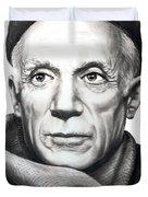 Pablo Picasso Duvet Cover by Murphy Elliott