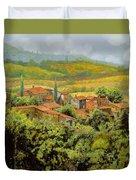 Paesaggio Toscano Duvet Cover by Guido Borelli