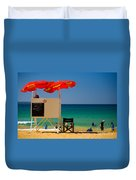 Palm Beach Dreaming Duvet Cover by Avalon Fine Art Photography
