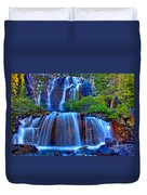 Paradise Falls Duvet Cover by Scott Mahon