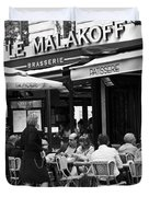 Paris Street Cafe - Le Malakoff Duvet Cover by Nomad Art And  Design
