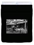 Paris Street Cafe - Le Malakoff Duvet Cover by Georgia Fowler