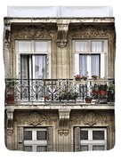 Paris Windows Duvet Cover by Elena Elisseeva