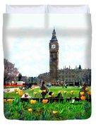 Parliament Square London Duvet Cover by Kurt Van Wagner