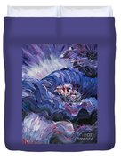 Passion In Blue Duvet Cover by Nadine Rippelmeyer