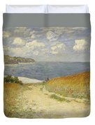 Path In The Wheat At Pourville Duvet Cover by Claude Monet