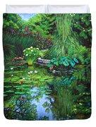 Peace Floods My Soul Duvet Cover by John Lautermilch
