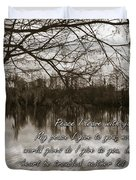 Peace I Leave With You Duvet Cover by Carolyn Marshall