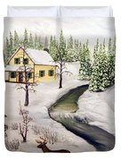 Peaceful Winter Day Duvet Cover by Timothy Smith