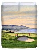 Pebble Beach Golf Course Duvet Cover by Bill Holkham