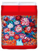 Peonies Bouquet Duvet Cover by Ana Maria Edulescu