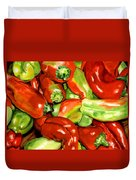 Peppers Duvet Cover by Nadi Spencer