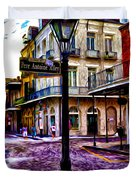 Pere Antoine Alley - New Orleans Duvet Cover by Bill Cannon