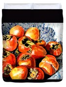 Persimmons Duvet Cover by Nadi Spencer