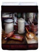 Pharmacist - Equipment For Making Pills  Duvet Cover by Mike Savad