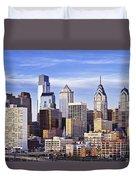 Philadelphia Skyline Duvet Cover by John Greim