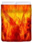 Phoenix Rising Duvet Cover by Andrew Paranavitana