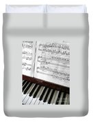 Piano Keys Duvet Cover by Carlos Caetano