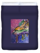 Piano Purple - Cropped Duvet Cover by Anita Burgermeister
