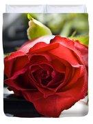 Piano Rose Duvet Cover by Sophie De Roumanie
