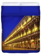 Piazza San Marco By Night Duvet Cover by Inge Johnsson