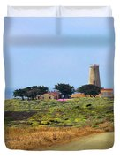 Piedras Blancas historic Light Station - Outstanding Natural Area Central California Duvet Cover by Christine Till