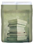 Piled Reading Matter Duvet Cover by Priska Wettstein