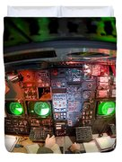 Pilots At The Controls Of A B-52 Duvet Cover by Stocktrek Images