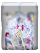 Pink Dandelion Duvet Cover by Parker Cunningham
