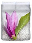 Pink Magnolia Flower Duvet Cover by Frank Tschakert