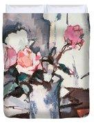 Pink Roses Duvet Cover by Samuel John Peploe