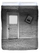 Pioneer Home Interior - Nevada City Ghost Town Montana Duvet Cover by Daniel Hagerman