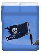 Pirate Flag Skull And Cross Bones Duvet Cover by Garry Gay