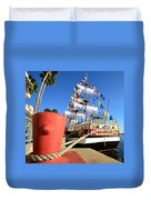 Pirates In Harbor Duvet Cover by David Lee Thompson