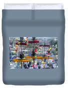 Pirate's In The Rigging Duvet Cover by David Lee Thompson