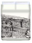 Placer Gold Mining C. 1889 Duvet Cover by Daniel Hagerman