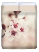 Plum Blossoms Duvet Cover by Lisa Russo