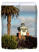 Point Fermin Light - San Pedro - Southern California Duvet Cover by Christine Till