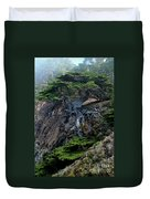 Point Lobos Veteran Cypress Tree Duvet Cover by Charlene Mitchell