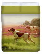 Pointers In A Landscape Duvet Cover by Harrington Bird