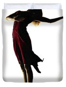 Poise in Silhouette Duvet Cover by Richard Young