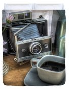 Polaroid perceptions Duvet Cover by Jane Linders