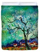 Poppies And Appletrees In Blossom Duvet Cover by Pol Ledent